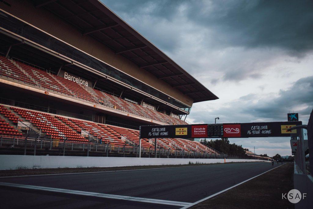 Formula 1 circuit in Barcelona